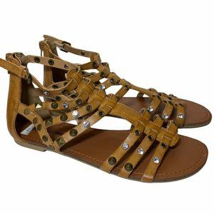 Dream Out Loud Brown Gladiator Sandals Sz 8 NEW
